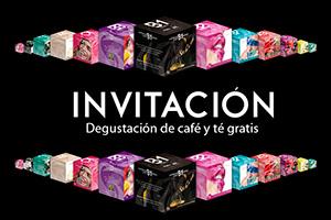 Invitación Degustación de café y té gratis