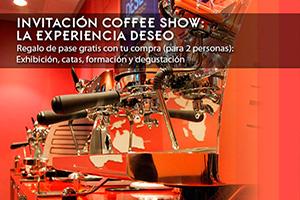 Invitación Coffee Show, Experiencia Deseo. Pase gratis con tu compra
