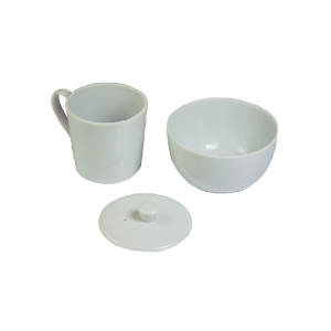 Set Taza Porcelana Blanca